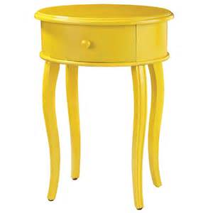 Yellow Side Table District17 Accent Table In Yellow With Drawer Tables Nightstands