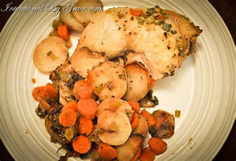 crock pot root vegetables crock pot easy chicken on a bed of root vegetables
