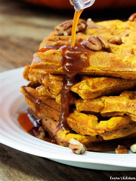 healthy pumpkin waffles vegan
