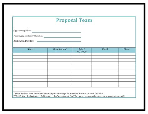 team contact list template tools templates peak proposals