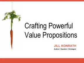 crafting strong value propositions