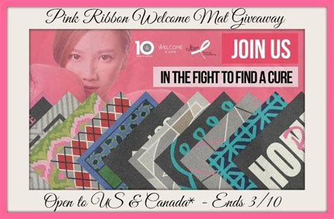 Pink Ribbon Giveaways - pink ribbon welcome mat giveaway ends 03 10 15 it s free at last