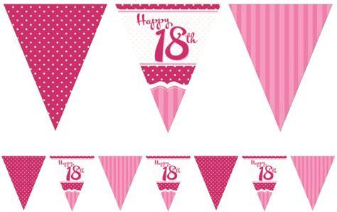 Girlande 18 Geburtstag by Papier Wimpel Girlande Perfectly Pink Zum 18 Geburtstag