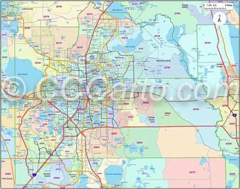 map orange county florida orlando fl zip code boundary map orange county fl zip