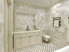 White Marble Bathroom Ideas by Carrara Marble Tile White Bathroom Design Ideas Modern