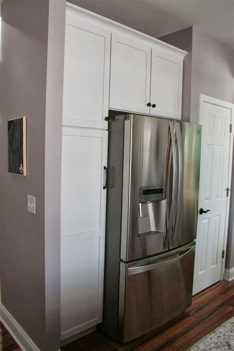 kitchen cabinets around refrigerator kitchen pantry cabinet around refrigerator