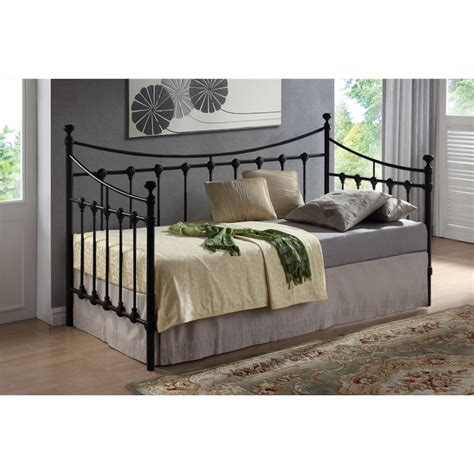 metal day bed frame black metal day bed frame single 3ft