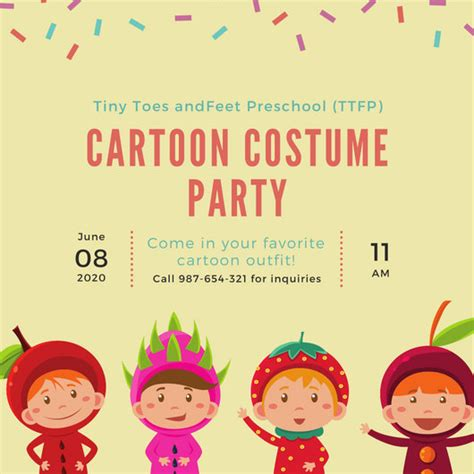 children s card templates invitation templates canva