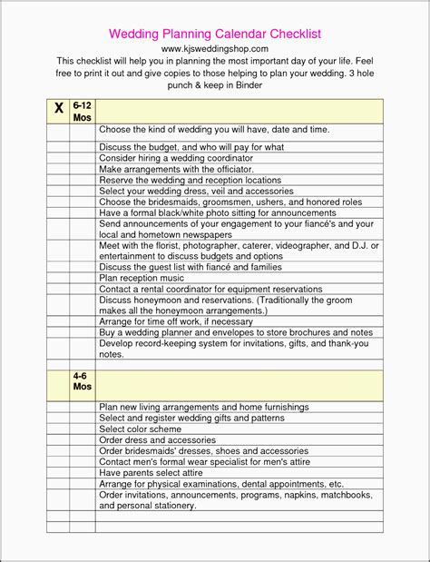 Wedding Checklist Timeline 6 Months by 87 Printable Wedding Checklist Timeline 6 Month Wedding
