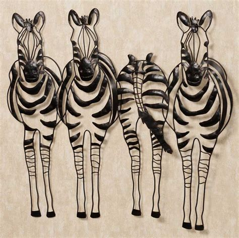 decorative sculptures for the home zebra decorative metal wall art bring a smile to your