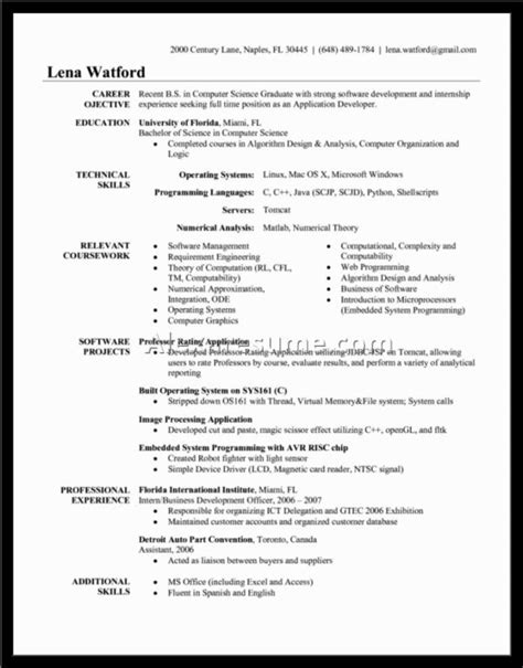 objective in resume for software engineer experienced sle