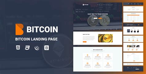 themeforest bitcoin bitcoin landing page by yasirkareem themeforest