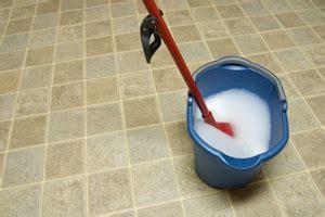 cleaning a vinyl floor