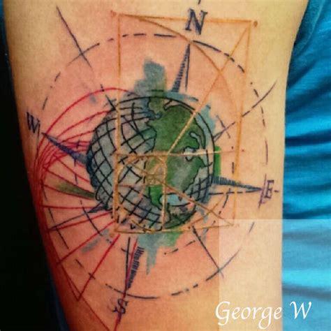 globe tattoo app ronin globe golden ratio compass rose graphique