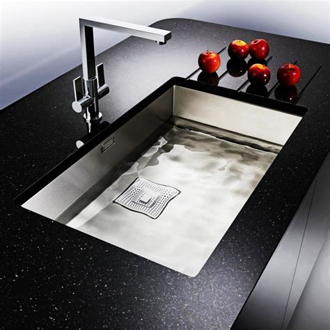 simple undermount stainless steel kitchen sink constructed