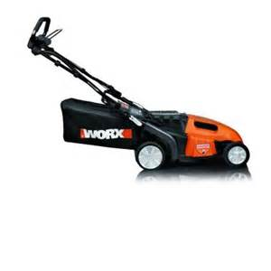 lawn mower in home depot worx 19 in walk cordless electric lawn mower wg789