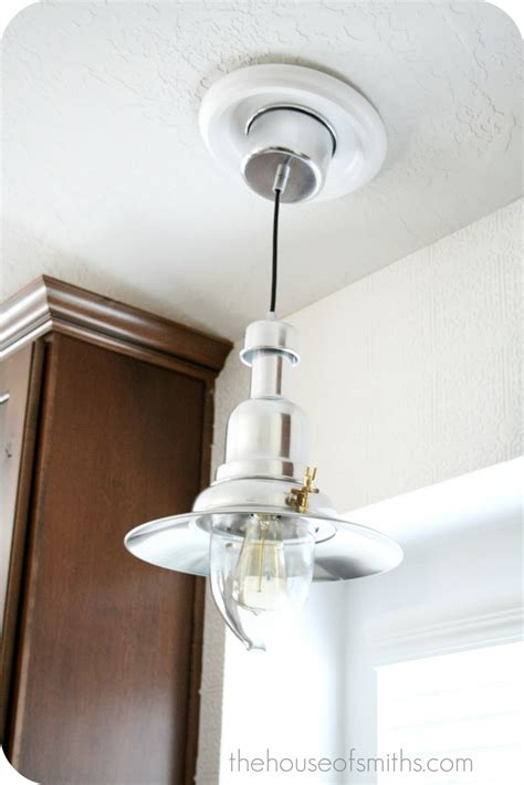 convert pendant light to recessed light convert recessed light to pendant 5 minute light upgrade