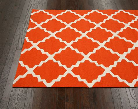Orange Outdoor Rug Fiona Trellis Indoor Outdoor Rug In Orange Rosenberryrooms
