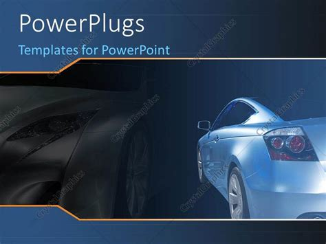 Powerpoint Template A Luxurious Car With Its Shadow In The Background 6451 Car Powerpoint Template