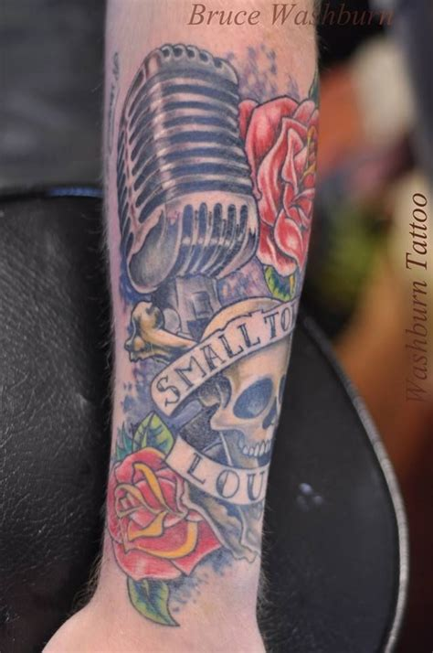 microphone bird tattoo tattoo old school microphone skulls roses what we do