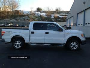 2009 Ford F 150 Cab 2009 Ford F 150 Xlt 4x4 Supercrew Cab White