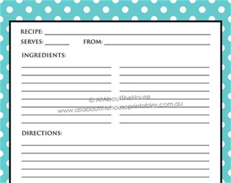editable printable recipe card template pdf sheet printable recipe sheet template recipe card recipe binder