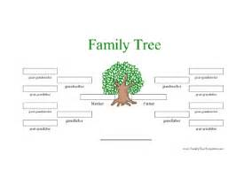 one sided family tree template 4 generation family tree in color template