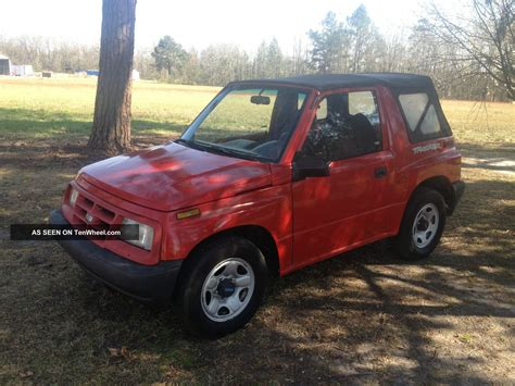 1997 chevrolet quot geo quot tracker 4 cyl 5 spd cold a c