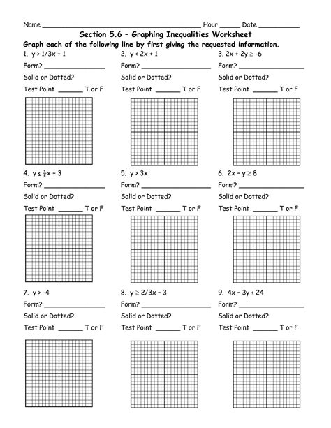Graphing Inequalities Worksheet by 8 Best Images Of Graphing Inequalities On A Number Line