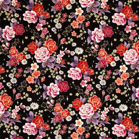 tessuti a fiori grazioso tessuto kokka con fiori foglie e decorazioni