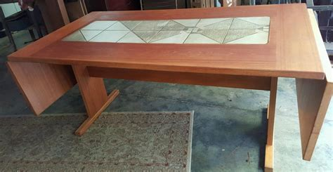Shabby Chic Dining Room Table by Vintage Danish Teak Gangso Mobler Dropleaf Dining Table