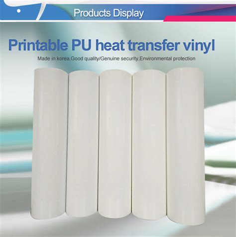 printable vinyl for sublimation printable pu heat transfer vinyl