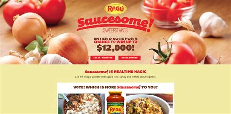 Recipe Com Daily Sweepstakes - rag 250 saucesome sweepstakes ragusweeps com win up to 12 000