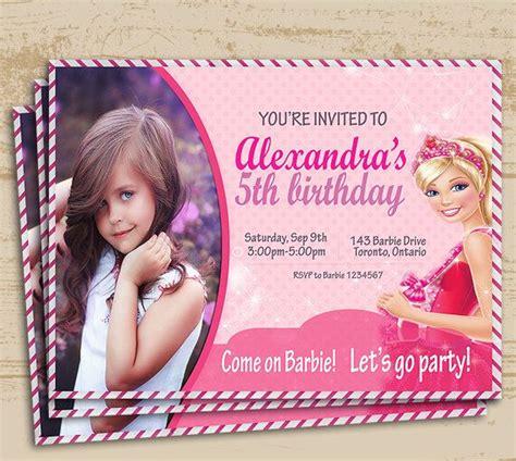 printable invitations barbie cute barbie printable https www etsy com ca listing