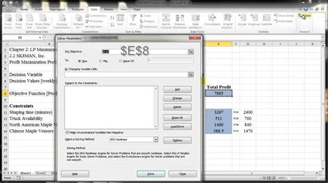 tutorial excel solver excel solver basics tutorial dr kenneth chelst wayne