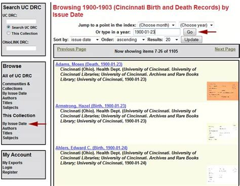 Search By Birth Date Search By Name And Date Of Birth Cincinnati Birth And Records Digital