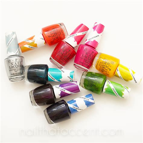opi color paints nail that accent