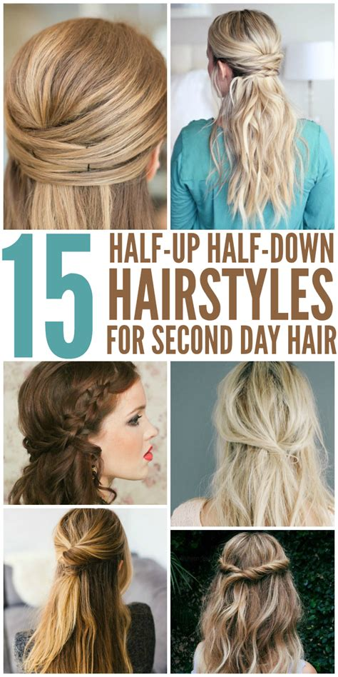 partial hair dues 15 casual simple hairstyles that are half up half down