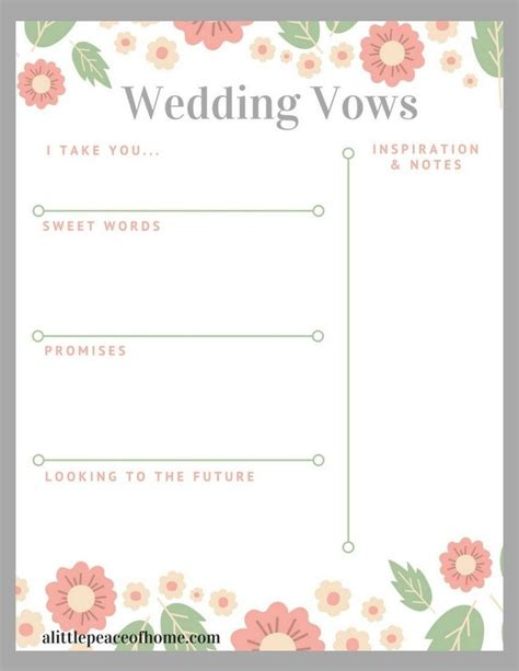 vow writing template best 25 wedding vows template ideas on how to