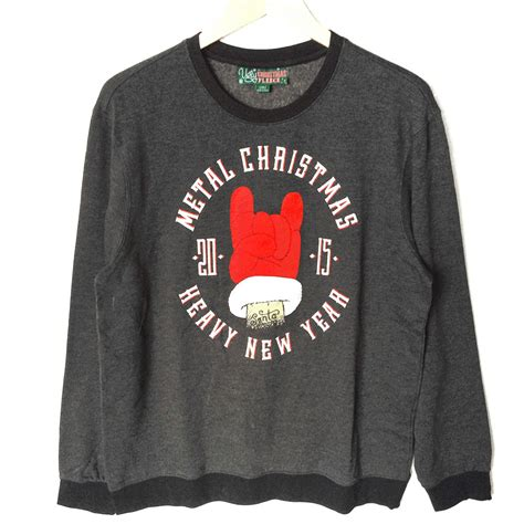 metal heavy new year sweatshirt the sweater shop