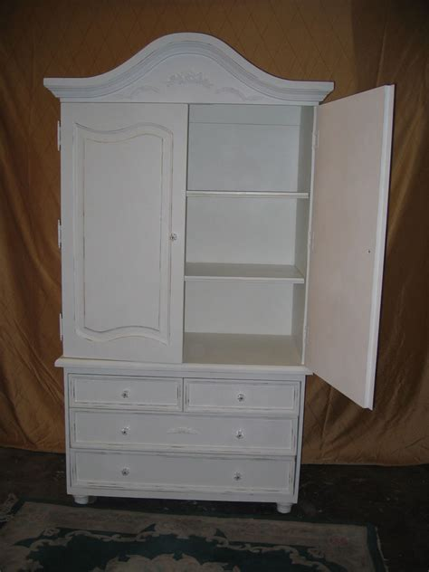 shabby chic armoire new shabby chic distressed cottage white antique armoire