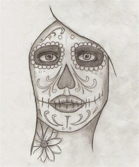 imagenes de calaveras a lapiz marcos guill 233 n guill 233 n dibujo mujer calavera mexicana