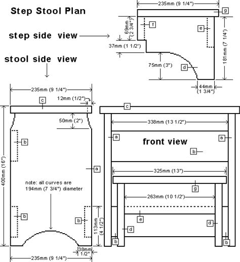 wood step stool chair plans woodproject
