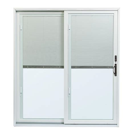 Blind For Patio Doors Andersen 70 1 2 In X 79 1 2 In 200 Series Left Perma Shield Gliding Patio Door With Built