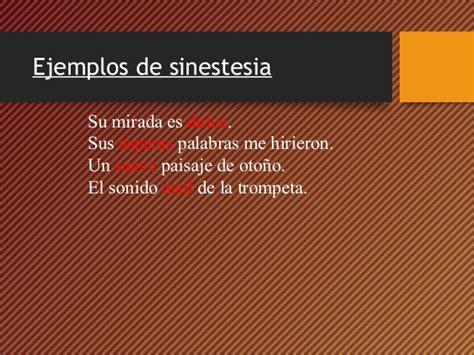 imagenes literarias sinestesia ejemplos de sinestesia figura literaria yahoo