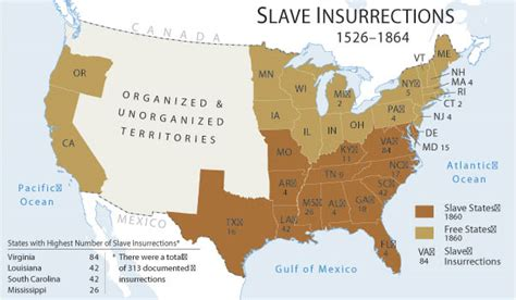 map of the united states slavery this day in resistance history nat turner s slave revolt