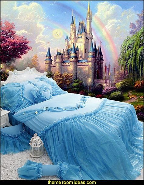 cinderella bedroom ideas castles and rainbow wall mural cinderella princess bedding