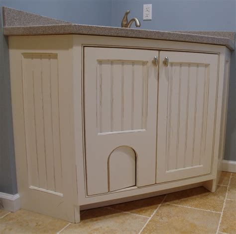 Laundry Room Base Cabinets Laundry Room Sink Base With Cat Door