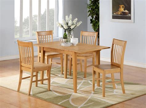 Kitchen Breakfast Table Sets 5pc Norfolk Rectangular Dinette Kitchen Dining Table With 4 Chairs In Oak Ebay