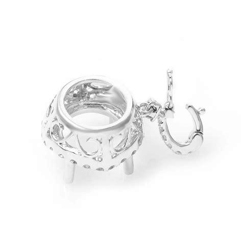 white gold pendant mountings white gold